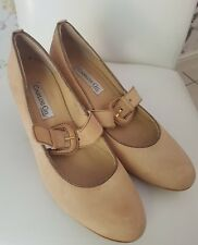 Designer Carlos gill office leather Shoes mary jane UK7 EU40 NEW