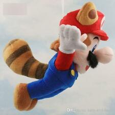 SUPER MARIO BROS.PROCIONE VOLANTE PELUCHE 23Cm Plush Tanooki 3D Wii U World New
