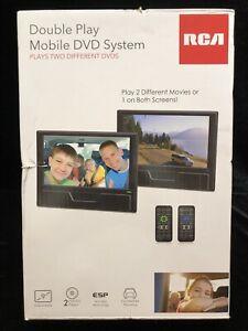 RCA Double Play Mobile DVD System + Remotes DRC72989DE