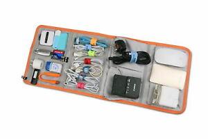 BUBM Black Portable Wrap Electronics Travel Organiser Memory Card Charger XL