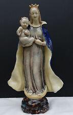 Grosse Karlsruher Keramik Majolika Sichelmadonna mit Jesuskind ca. 37,5 cm !!!