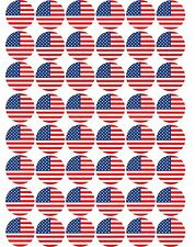 48 x USA / American Flag - Pre Cut Cupcake Toppers Premium Quality Icing Sheet