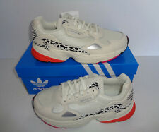 Adidas Ladies Falcon Off White Retro Running Trainers Shoes RRP £85 New Size 6
