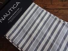 "NAUTICA Charcoal GRAY STRIPED Rod Pocket Baxter Window DRAPERY PANELS 104x96"""