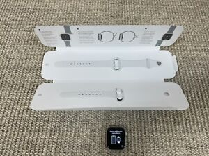 Apple Watch SE GPS Cellular With White Sport Band - 40mm - Silver