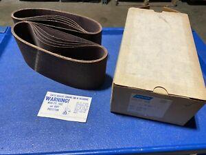 "Box of 10 Norton Metalite R228 Sanding Belts 4"" x 24"" Grit 60-x, NOS"