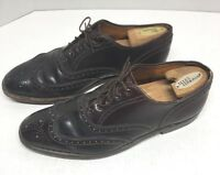 Vintage Brooks Brothers x Alden Shell Cordovan Balmoral Wingtip Size 9 E A764