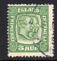 Iceland 5 Aur c1915-18 Stamp Used (3291)