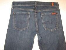 7 For All Mankind Womens Jeans Slim Straight Leg Dark Distressed Sz 26 (Run Big)