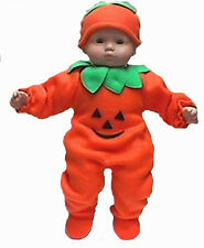 Pumpkin Halloween Costume for Bitty Baby Boy or Girl & Twins Doll Clothes