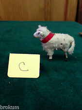 Vintage Tiny German Miniature Woolly Christmas Sheep Lamb ~ Antique
