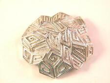 Vintage Coro Silver tone Modern Large Brooch Pin