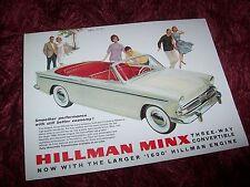 Prospectus /  Sales Leaflet Brochure HILLMAN Minx Convertible 1962 //