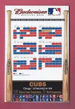 2002 Chicago Cubs BUDWEISER BEER STAND-UP CARDBOARD SCHEDULE ONLY 1 ON EBAY