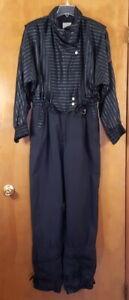 BOGNER Size L L14 14 Black Vintage Snowsuit