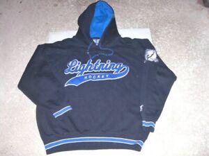 Vintage 90s TAMPA BAY LIGHTNING sewn Starter Hoodie Sweatshirt Large RARE