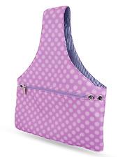 JamieCraft Yarn Bag Organizer Project Bag Tote Knitting Crochet Purple Dots