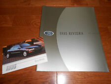 1995 BUICK RIVIERA BIG 38-Page BROCHURE / CATALOG plus ORIGINAL 95 POSTCARD