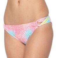 SO Juniors Size XS S M L XL Bright Rainbow Floral Hipster Bikini Bottom Swim NEW