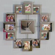 Casablanca Wanduhr mit Bilderrahmen für 12 Bilder Bilderuhr Uhr Dekouhr silber
