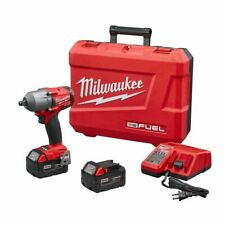 Milwaukee 2861 M18 FUEL Mid Torque Impact Gun Wrench Kit W/ 2 Batteries Charger