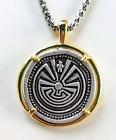 Man In The Maze pendant necklace, Tohono O