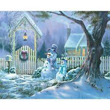 5D Christmas Snowman Embroidery Diamond Painting DIY Cross Stitch Art Home Decor
