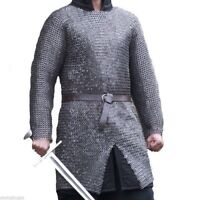 Flat Riv With Flat Warser 9mm Large Size Full Sleeve Chainmail shirt Halloween