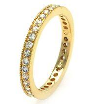 BGR00375/925 STERLING SILVER ETERNITY WEDDING BAND /SZ 5 TO 9 / W/ DIAMONDS