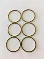 """(QTY 6) 1mm X 1"""" Headset Spacers. Gold Anodized"""