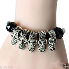 Vintage Punk Skeleton Skull Chain Bracelet Gothic Party Decoration Halloween