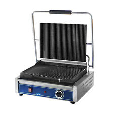 Globe Gpg1410 Mid-Size Electric Sandwich Grill with Grooved Plates