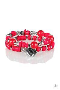 Writing My Own Love Story Pink Bracelet Paparazzi