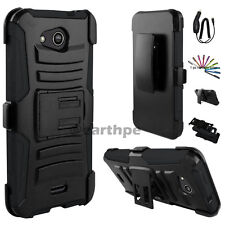 For LG Optimus one 3 K4 Spree Hybrid Rugged Holster Case Cover Stand Clip +Gift