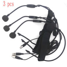 3 PCS Headworn Headset 4 Pin Microphone For Shure Wireless BodyPack Transmitter