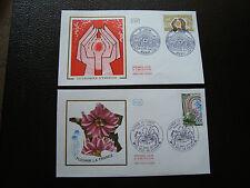 FRANCE - 2 enveloppes 1er jour 1978 (eco energie/fleurir france) (cy89) french