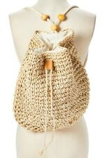 Handwoven Straw Backpack - New Womens Boho Purse Beach Bag Accessory - USA