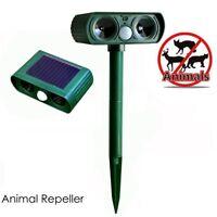 PIR Solar Power Ultrasonic Dog Wild Boar Animal Repeller Garden Yard Guard