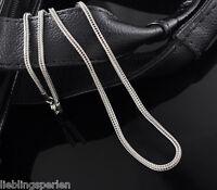 3 Edelstahl Halskette Fuchsschwanz Kette Silberfarbe 52.5cm L/P
