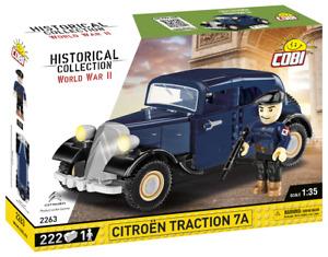 Cobi 2263 Citroen Traction 7A Bausatz 222 Teile / 1 Figur sofort lieferbar!!!
