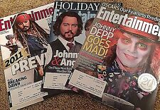 Lot of Three Johnny Depp Covers 2010-2011 Entertainment Weekly Issues