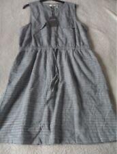EX Fat Face Lauren Chambray Stripe Lightweight Cotton Belted Shirt Dress Size 18 18