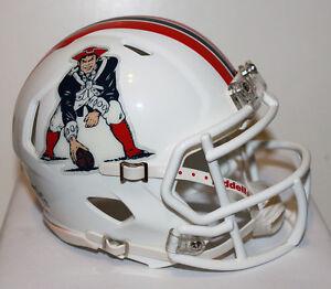 2012 New England Patriots Speed Riddell Custom Mini Helmet