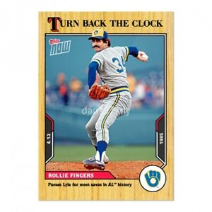 🛑👀 2021 TOPPS NOW TURN BACK THE CLOCK ROLLIE FINGERS #13 🔥 PRESALE