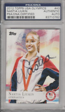 Nastia Liukin 2012 Topps USA Olypmics #43 autograph auto card PSA COA