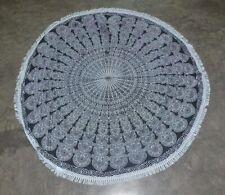 Indian Mandala Roundie Round Tapestry Gypsy Yoga Picnic Sheet Table Cloth throw
