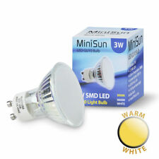 NEW - ENERGY SAVING LIGHT BULB GU10 SPOTLIGHT LAMP 3W SMD LED 3000K WARM WHITE