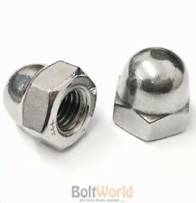 M12 / 12mm STAINLESS STEEL A2 DOME HEAD CUP NUTS FIT BOLTS AND SCREWS DIN 1587