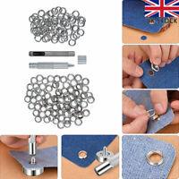Eyelet Punch Tool Set 100 Eyelets Grommet Washer For Leather Craft Banner Kit