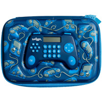 Smiggle Boys Hard Top GAMING Pencil Case BLUE POP OUT Calculator *NEW* 😎